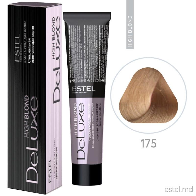 Vopsea permanenta de par De Luxe High Blond 175 Blond special maroniu - rosu 60 ml