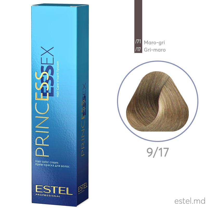Крем-краска для волос PRINCESS ESSEX, 9/17 Блондин пепельно-коричневый, 60 мл