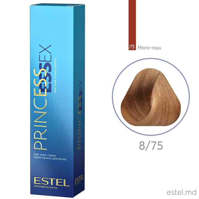 Крем-краска для волос PRINCESS ESSEX, 8/75 Светло-русый коричнево-красный, 60 мл