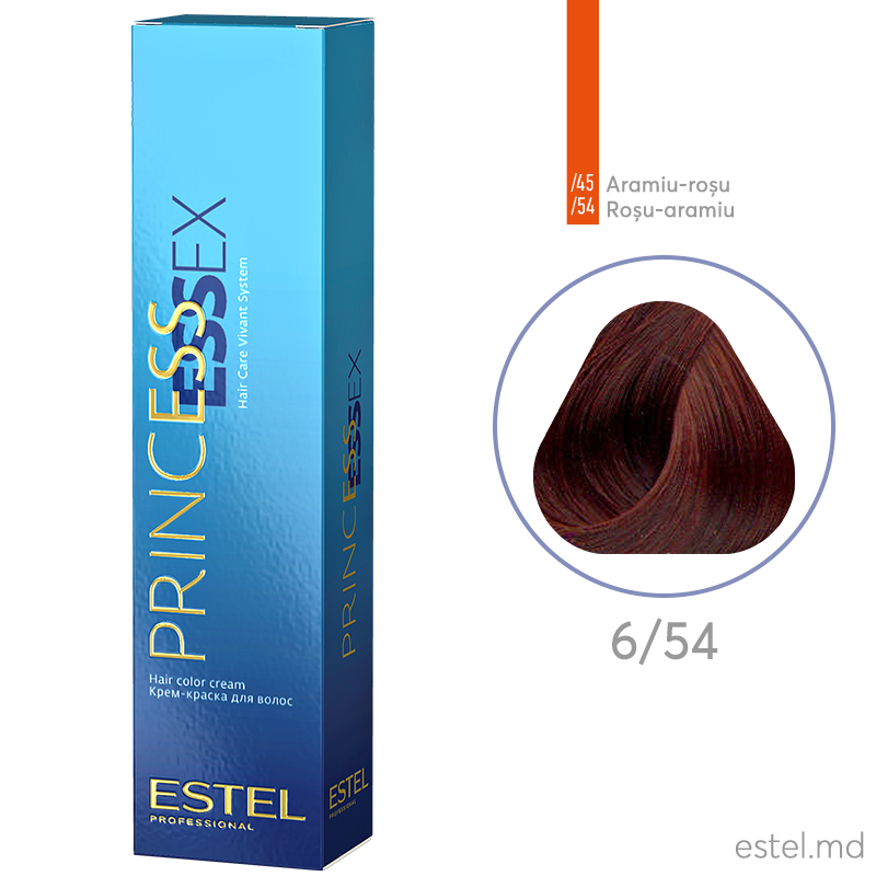 Крем-краска для волос PRINCESS ESSEX, 6/54 Темно-русый красно-медный, 60 мл