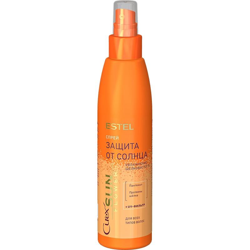 """Spray """"Hidratare. Protecție împotriva razelor UV"""" pentru toate tipurile de păr ESTEL CUREX SUN FLOWER, 200 ml - ESTEL Moldova"""