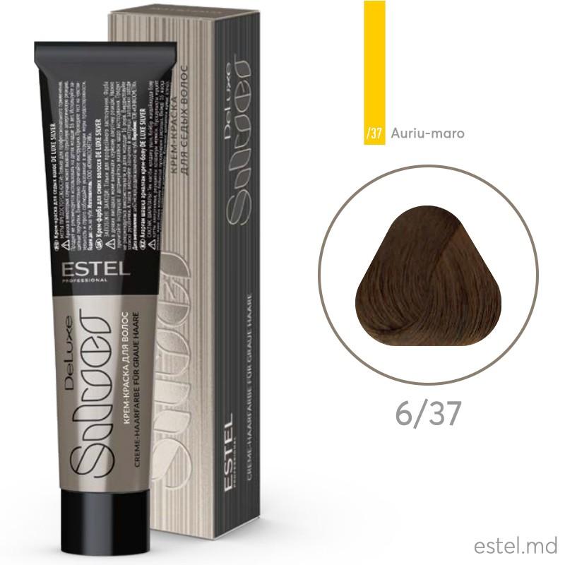 Крем-краска для седых волос DE LUXE SILVER, 6/37 Темно-русый золотисто-коричневый, 60 мл