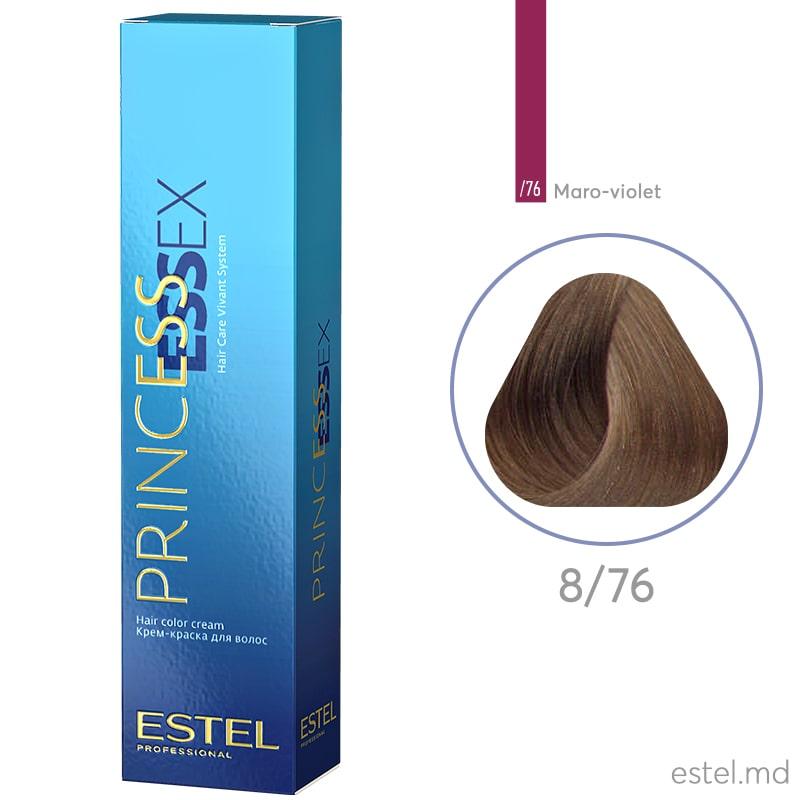 Крем-краска для волос PRINCESS ESSEX, 8/76 Светло-русый коричнево-фиолетовый, 60 мл