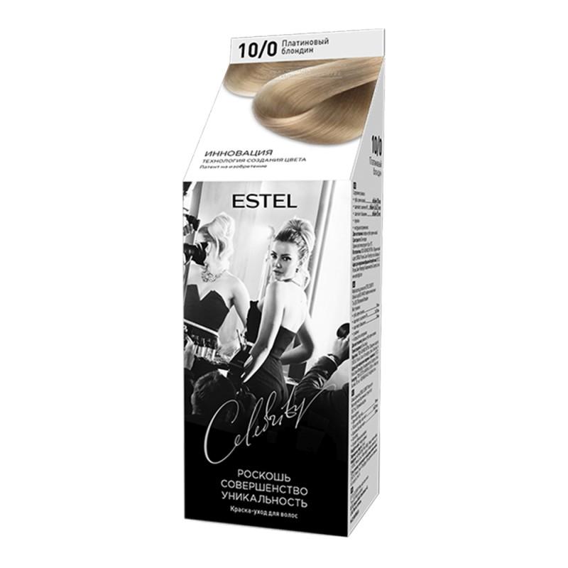 Vopsea-îngrijire pentru păr semipermanentă Celebrity, 10/0 Blond-platină, 125 ml