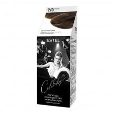 Vopsea-îngrijire pentru păr semipermanentă Celebrity, 7/0 Maro deschis, 125 ml