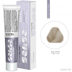 Vopsea-crema semipermanenta Estel DE LUXE SENSE CLEAR BLOND, 11/17 Ultra blond gri-maroniu, 60 ml