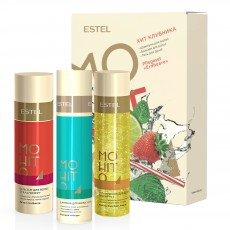 Set HIT #3 Capsuna  ESTEL MOHITO (Sampon 250 ml, balsam 200 ml, gel de dus 200 ml)