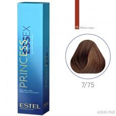 Крем-краска для волос PRINCESS ESSEX, 7/75 Русый коричнево-красный, 60 мл