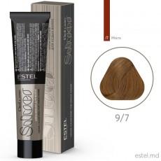 Vopsea-crema permanenta pentru par alb ESTEL DE LUXE SILVER, 9/7 Blond maro, 60 ml