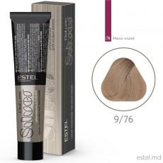 Vopsea-crema permanenta pentru par alb ESTEL DE LUXE SILVER, 9/76 Blond maro-violet, 60 ml