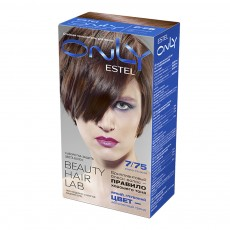 Vopsea-îngrijire pentru păr permanentă Only, 7/75 Blond roșu-cafeniu, 100 ml