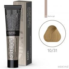 Vopsea permanenta de par De Luxe SILVER 10/31 Blond foarte deschis auriu-cenusiu 60 ml