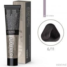 Крем-краска для седых волос DE LUXE SILVER, 6/11 Темно-русый пепельный интенсивный, 60 мл