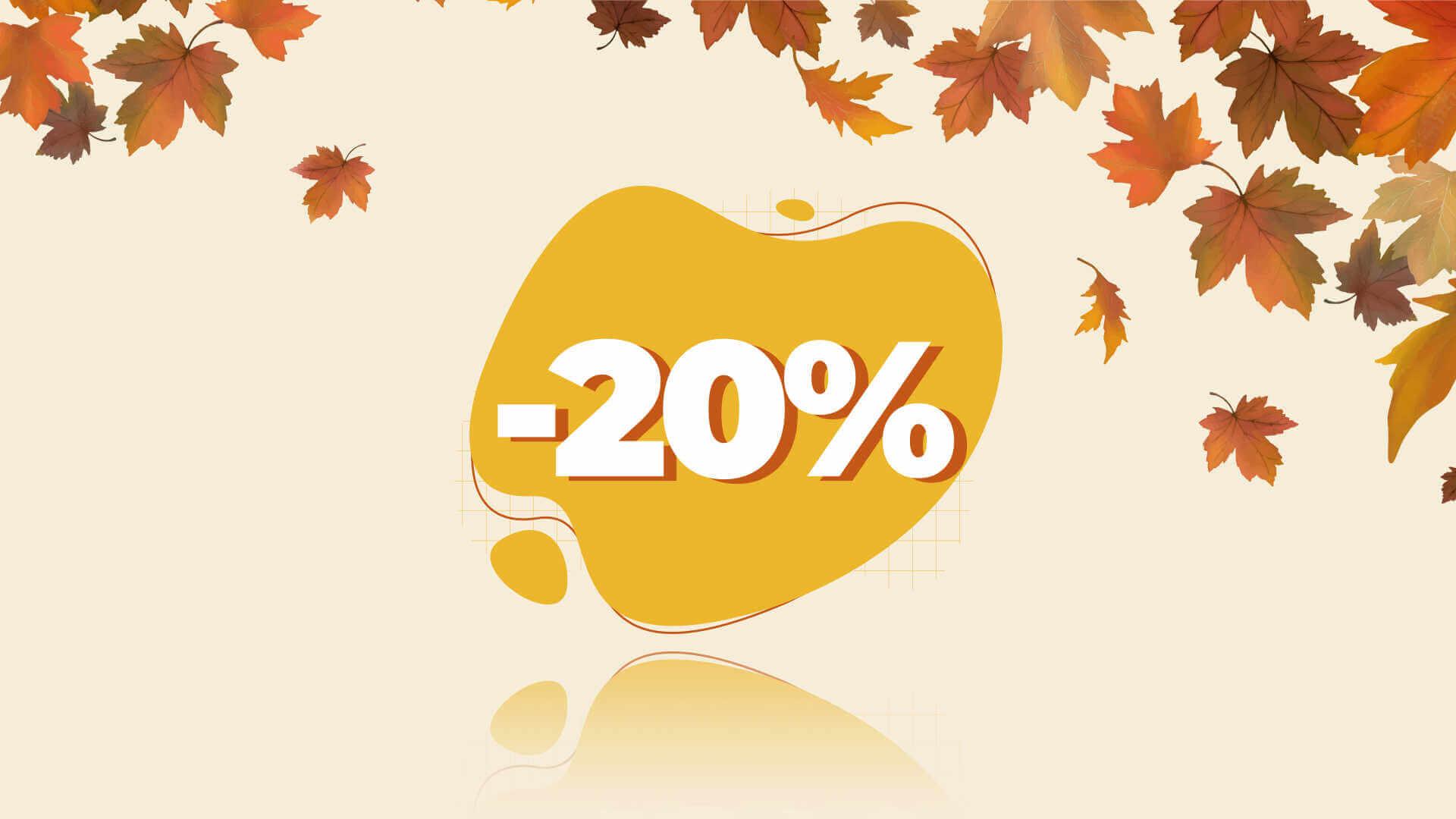 Toamna vine cu promotii - 20%